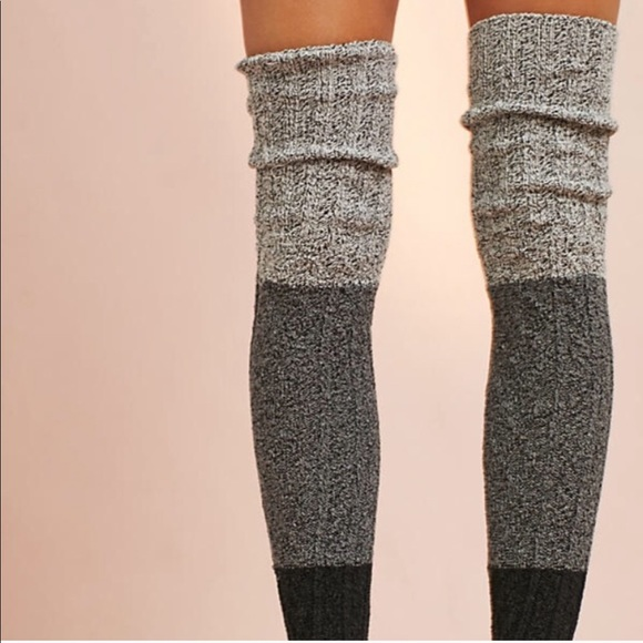 baf19c2f948b9 Anthropologie Accessories | Thigh High Luxury Cable Knit Socks ...